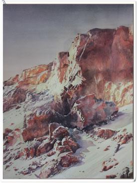 著名蒙古族水彩画家白长青作品欣赏 第9张