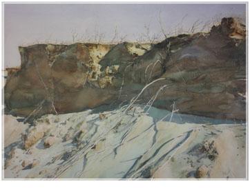 著名蒙古族水彩画家白长青作品欣赏 第11张