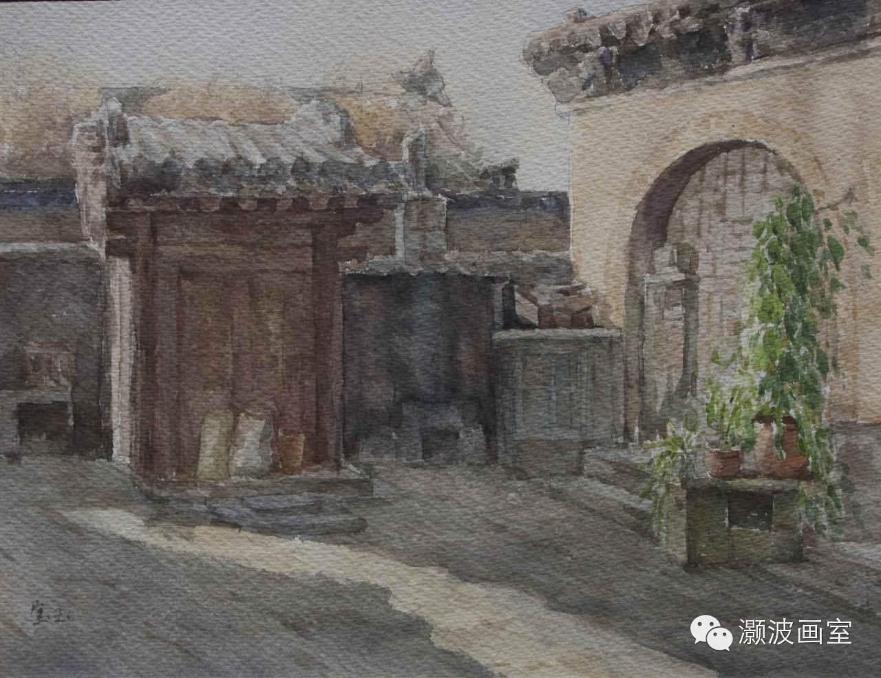 著名蒙古族青年水彩画家宝玉作品欣赏 第1张