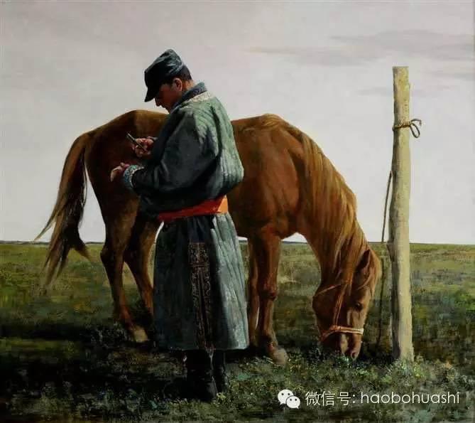 钢铁般的汉子——蒙古族油画家铁钢 第12张