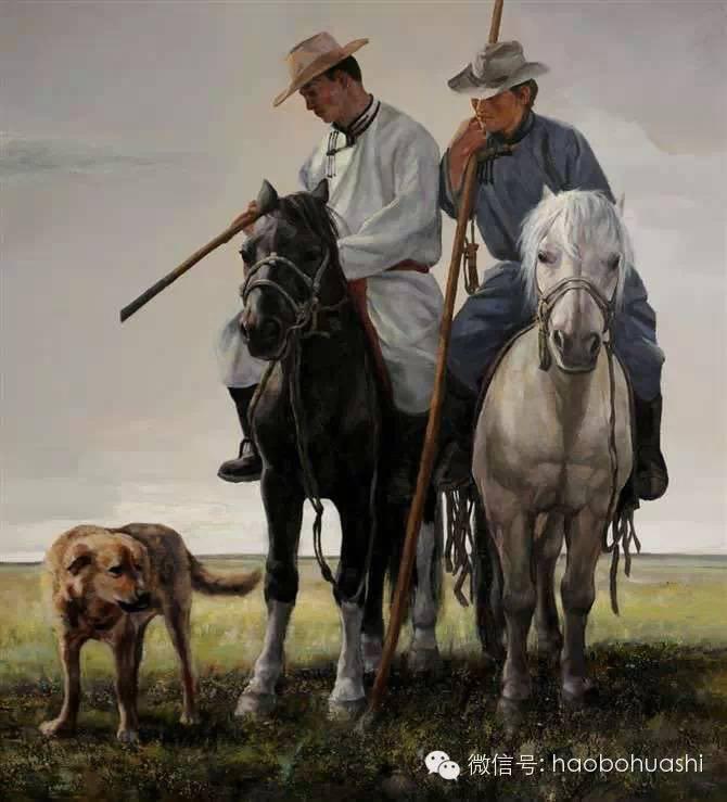钢铁般的汉子——蒙古族油画家铁钢 第13张