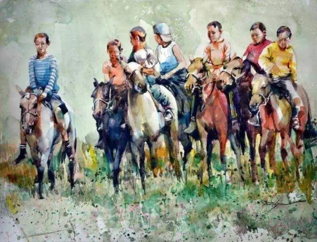 记录草原往事:画家巴图纳森写实水彩作品欣赏 第6张