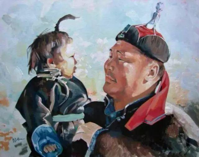 记录草原往事:画家巴图纳森写实水彩作品欣赏 第19张