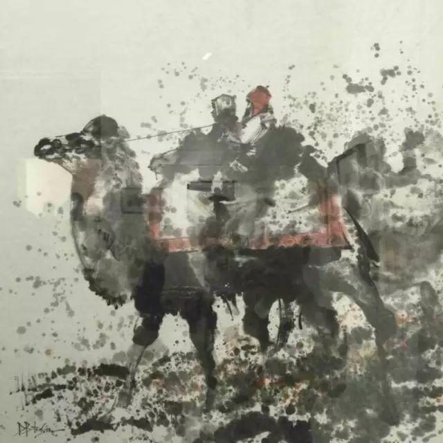 记录草原往事:画家巴图纳森写实水彩作品欣赏 第29张