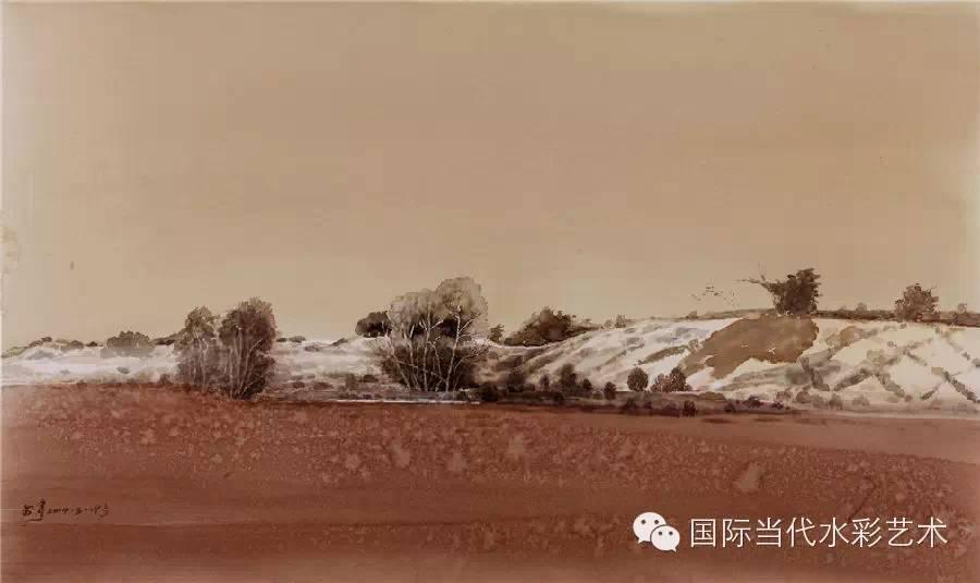 当代著名水彩画家专集——张曙光 第12张