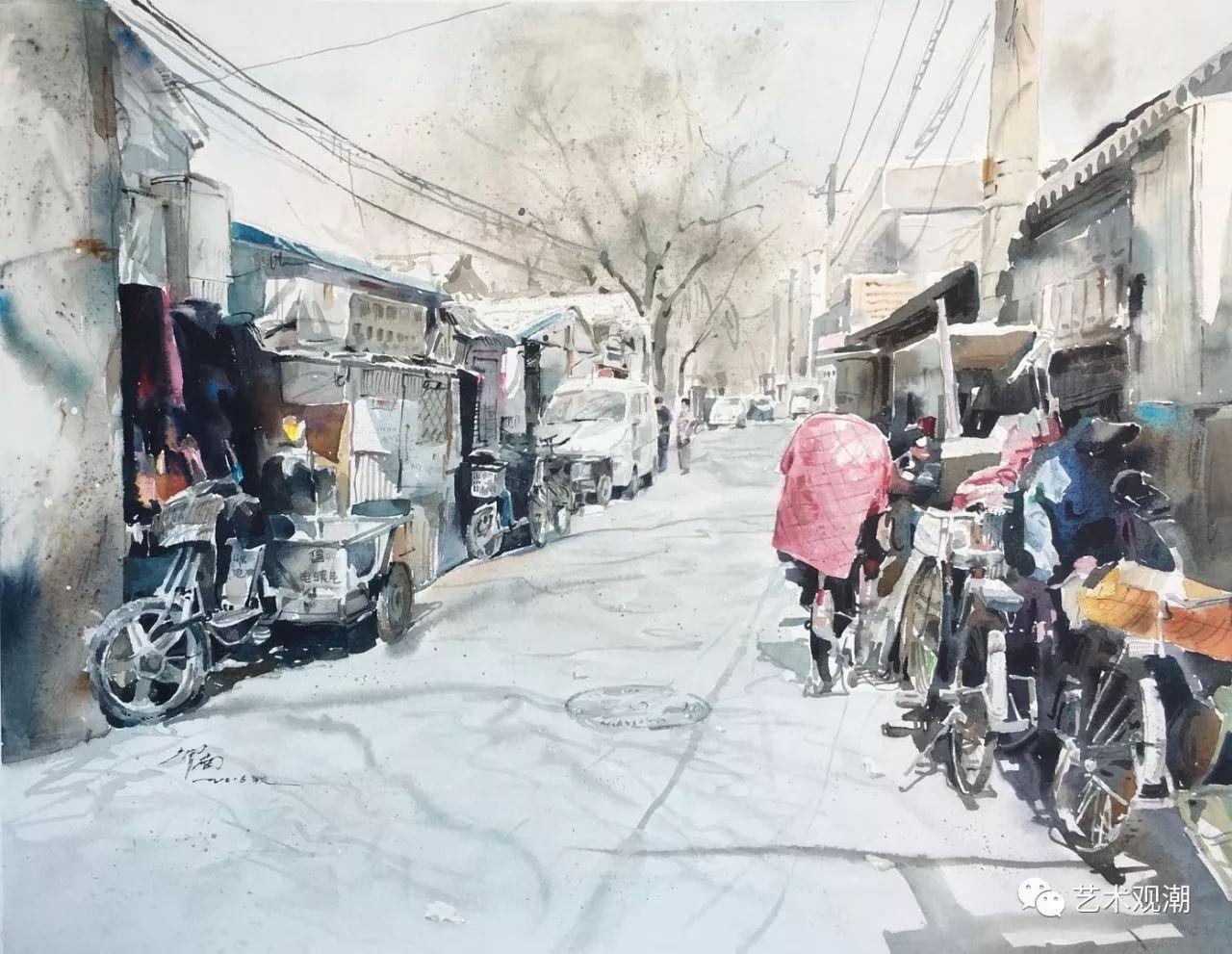 中国当代水彩系列研究展首展(北京)蒋智南作品欣赏 第15张