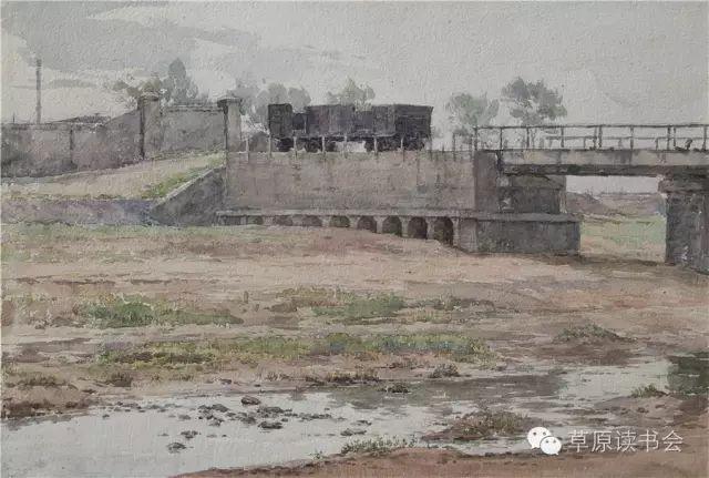 著名画家奥迪:水彩画记录下的呼和浩特旧景 第3张