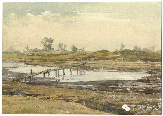 著名画家奥迪:水彩画记录下的呼和浩特旧景 第2张