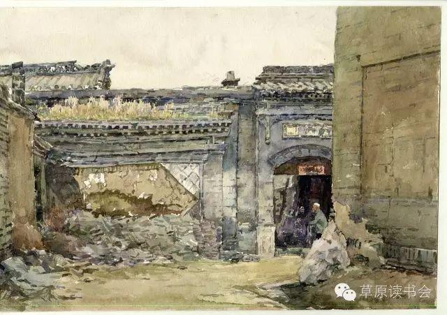 著名画家奥迪:水彩画记录下的呼和浩特旧景 第4张
