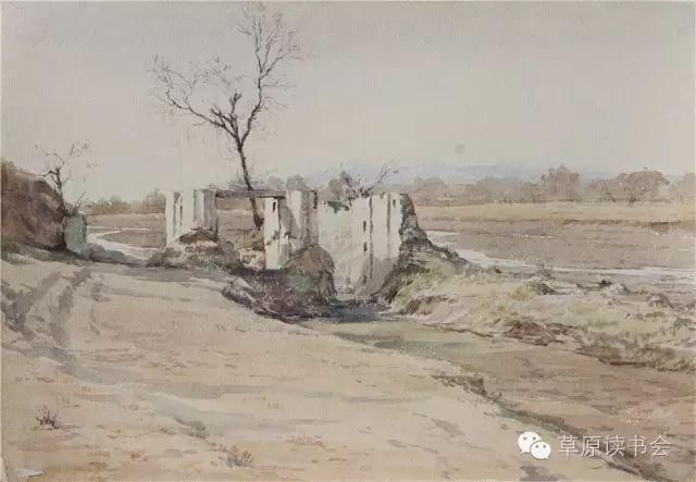 著名画家奥迪:水彩画记录下的呼和浩特旧景