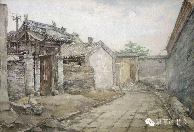 著名画家奥迪:水彩画记录下的呼和浩特旧景 第5张
