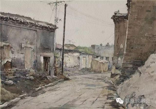 著名画家奥迪:水彩画记录下的呼和浩特旧景 第6张