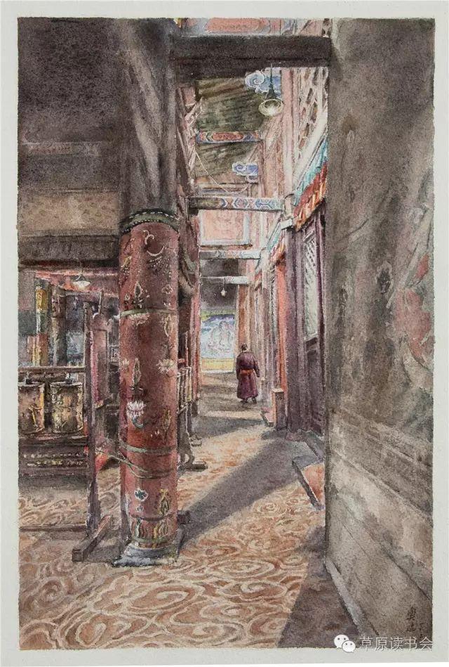 著名画家奥迪:水彩画记录下的呼和浩特旧景 第8张