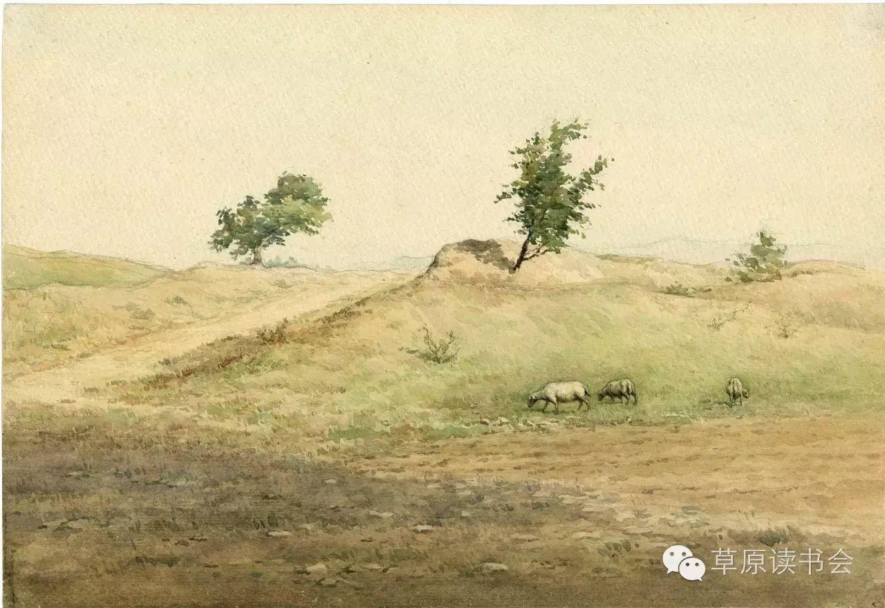 著名画家奥迪:水彩画记录下的呼和浩特旧景 第13张