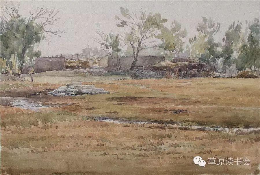 著名画家奥迪:水彩画记录下的呼和浩特旧景 第12张