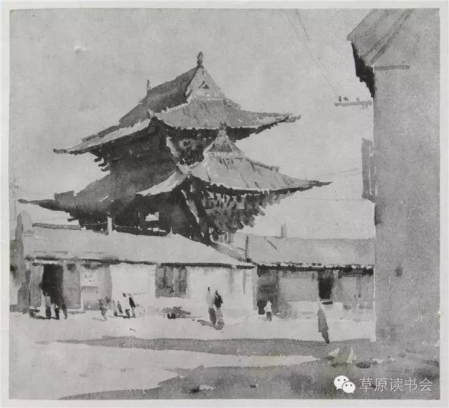 著名画家奥迪:水彩画记录下的呼和浩特旧景 第10张