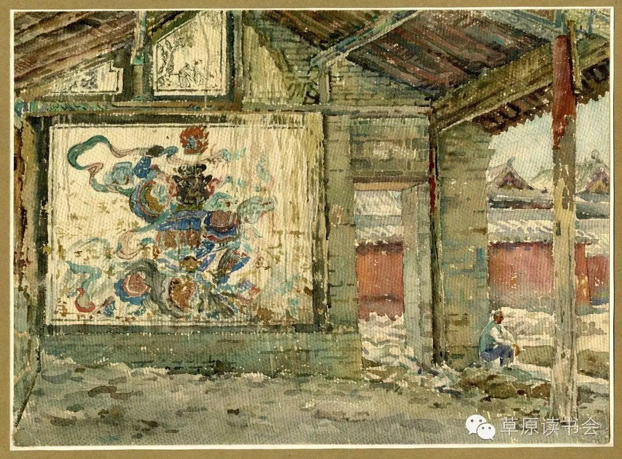 著名画家奥迪:水彩画记录下的呼和浩特旧景 第15张