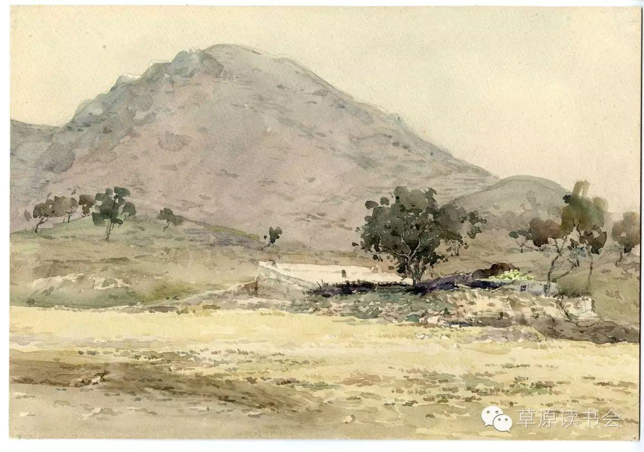 著名画家奥迪:水彩画记录下的呼和浩特旧景 第16张