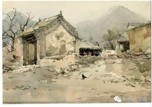 著名画家奥迪:水彩画记录下的呼和浩特旧景 第21张