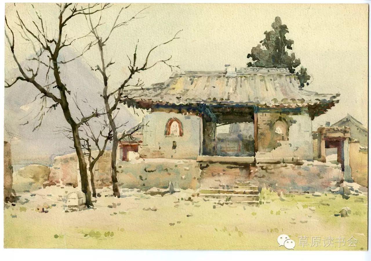 著名画家奥迪:水彩画记录下的呼和浩特旧景 第19张