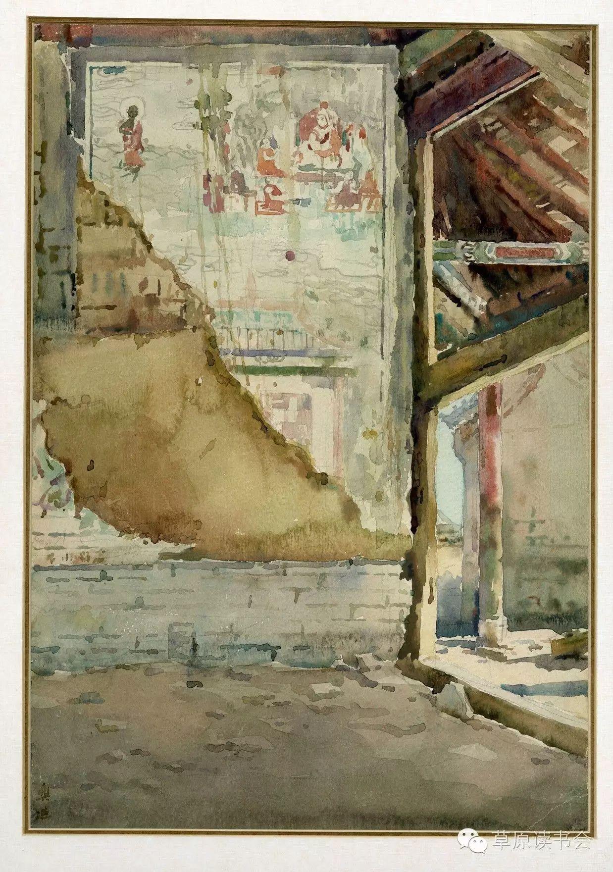 著名画家奥迪:水彩画记录下的呼和浩特旧景 第17张