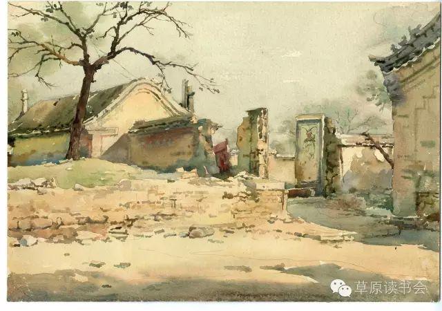 著名画家奥迪:水彩画记录下的呼和浩特旧景 第20张