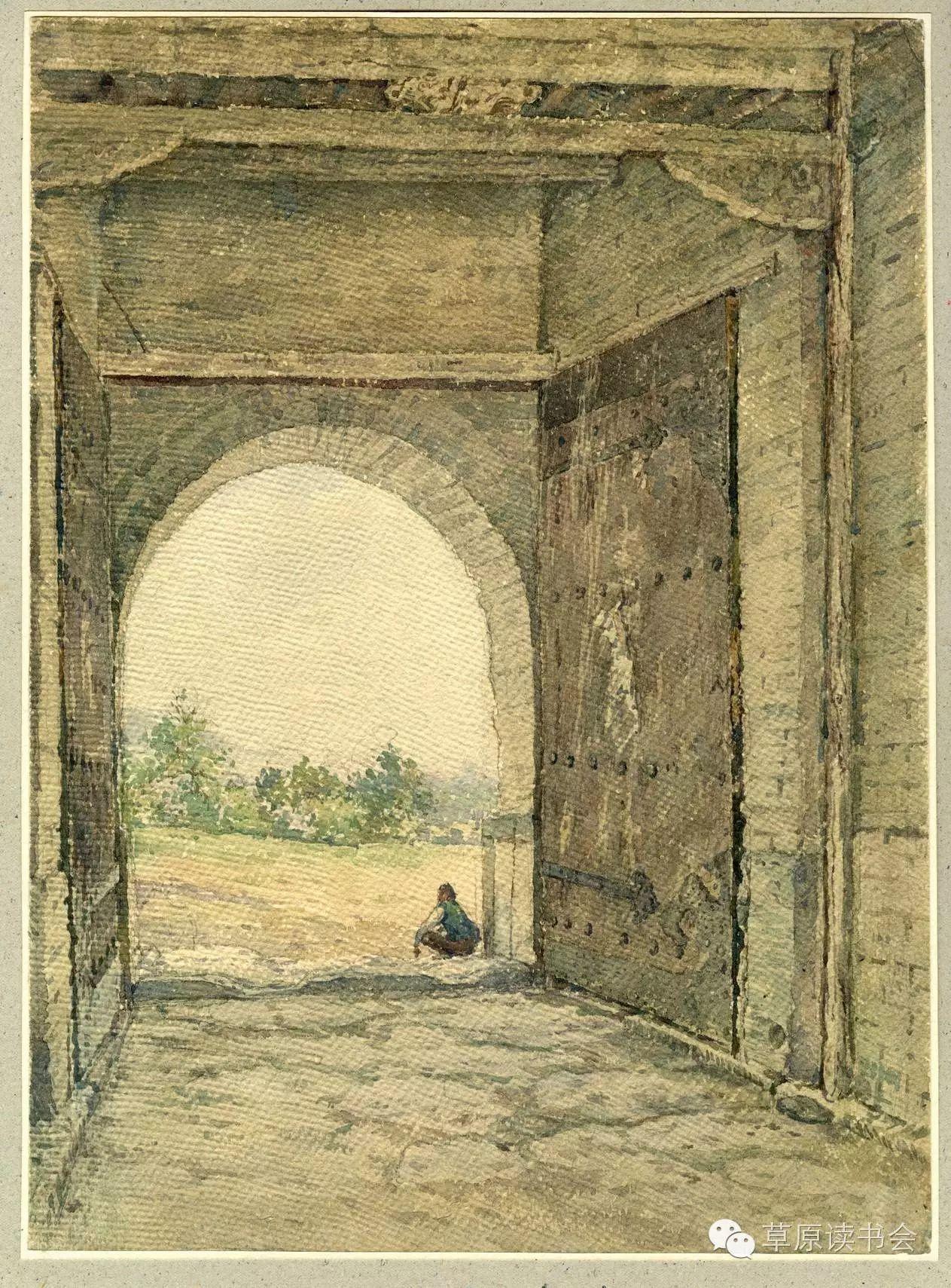 著名画家奥迪:水彩画记录下的呼和浩特旧景 第18张