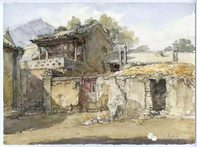 著名画家奥迪:水彩画记录下的呼和浩特旧景 第22张