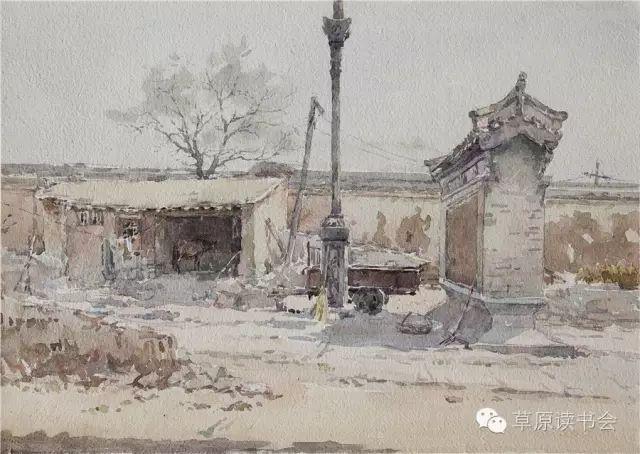著名画家奥迪:水彩画记录下的呼和浩特旧景 第26张