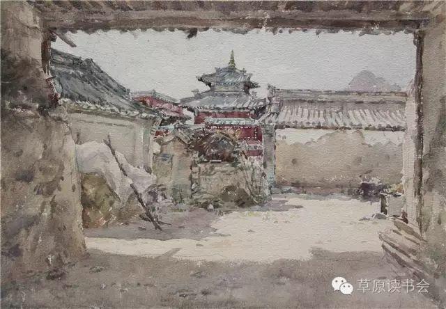 著名画家奥迪:水彩画记录下的呼和浩特旧景 第24张