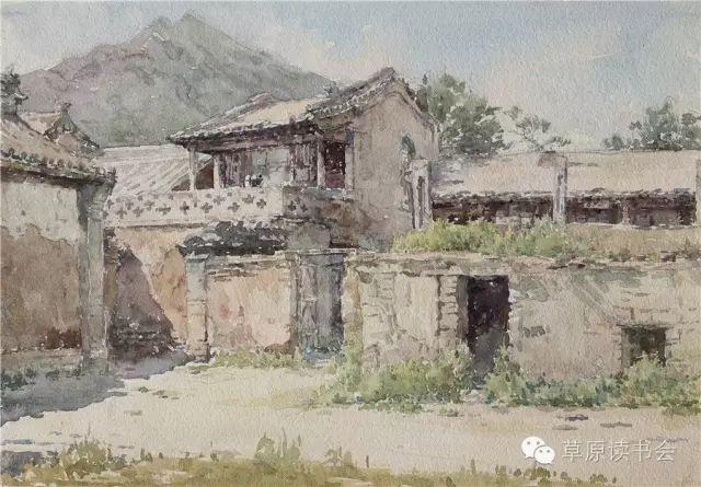 著名画家奥迪:水彩画记录下的呼和浩特旧景 第23张