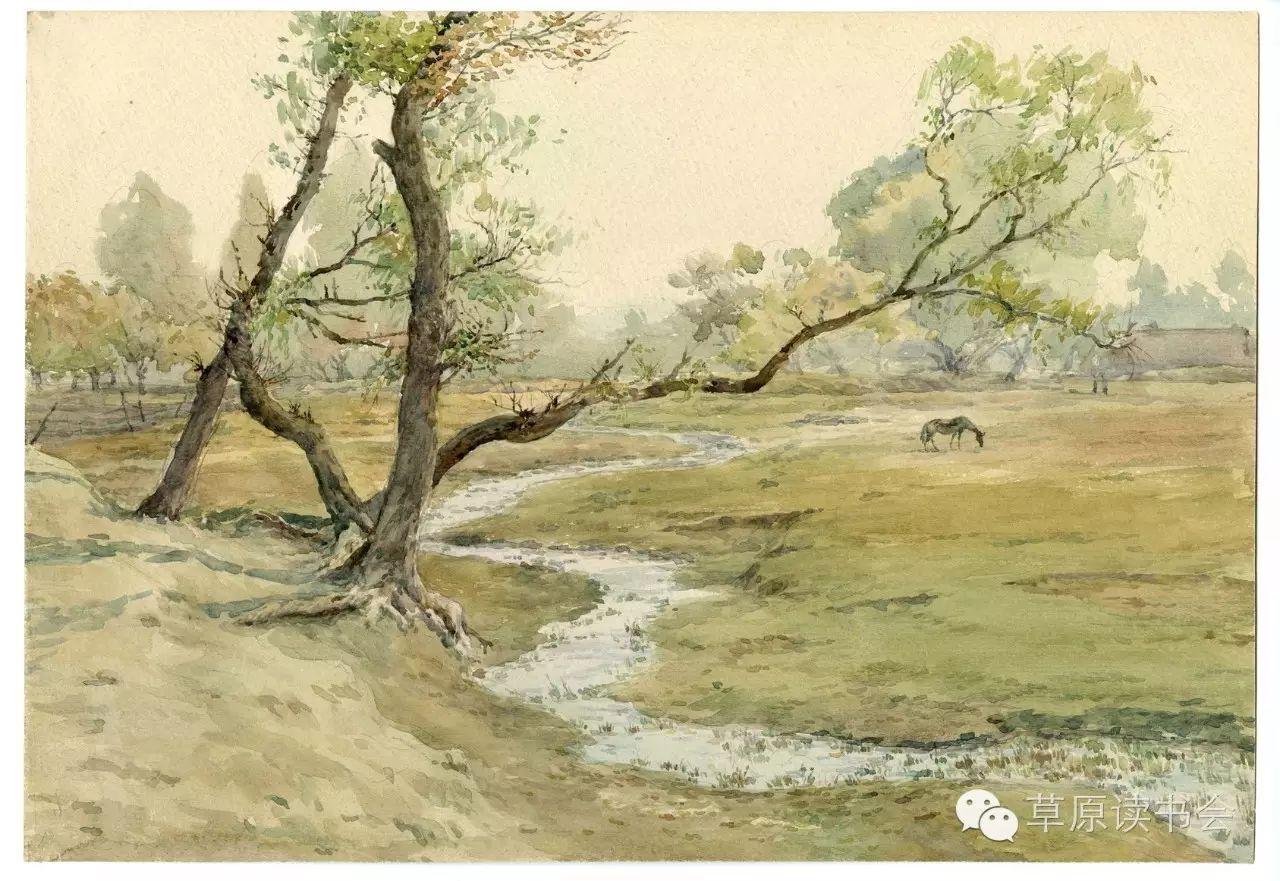 著名画家奥迪:水彩画记录下的呼和浩特旧景 第30张