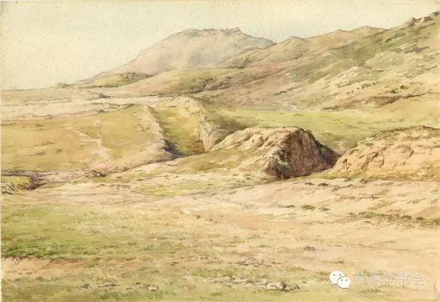 著名画家奥迪:水彩画记录下的呼和浩特旧景 第29张