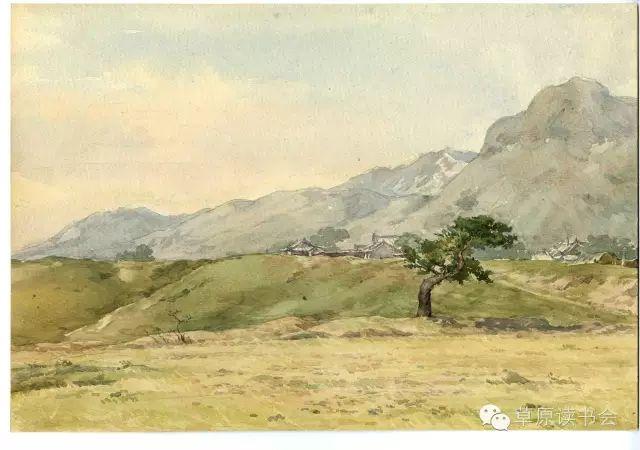 著名画家奥迪:水彩画记录下的呼和浩特旧景 第31张