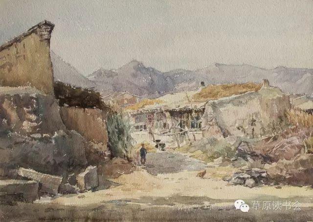 著名画家奥迪:水彩画记录下的呼和浩特旧景 第27张