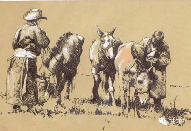 画家达. 巴图那顺水彩画作品分享 第7张