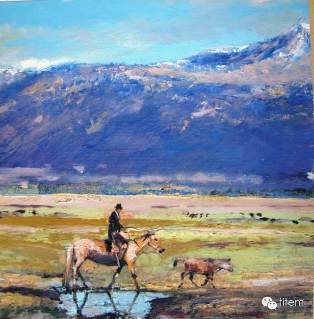画家达. 巴图那顺水彩画作品分享 第3张