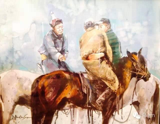 画家达. 巴图那顺水彩画作品分享 第20张