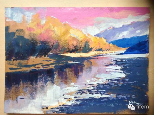 画家达. 巴图那顺水彩画作品分享 第22张