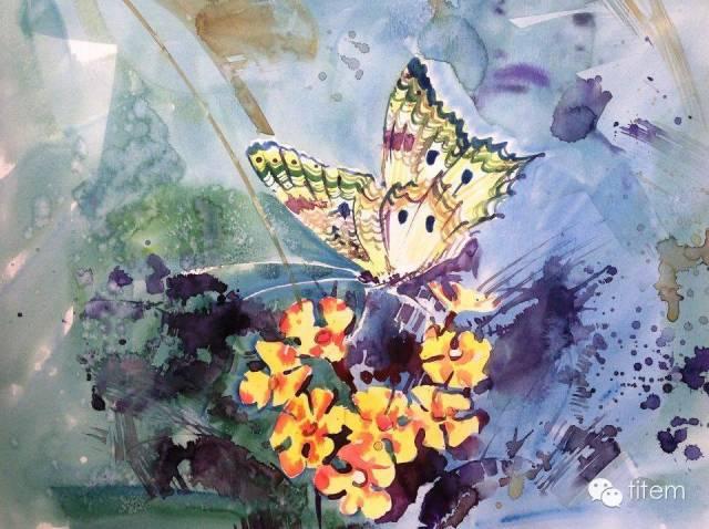 画家达. 巴图那顺水彩画作品分享 第24张