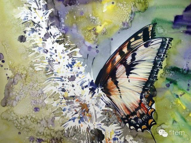 画家达. 巴图那顺水彩画作品分享 第28张