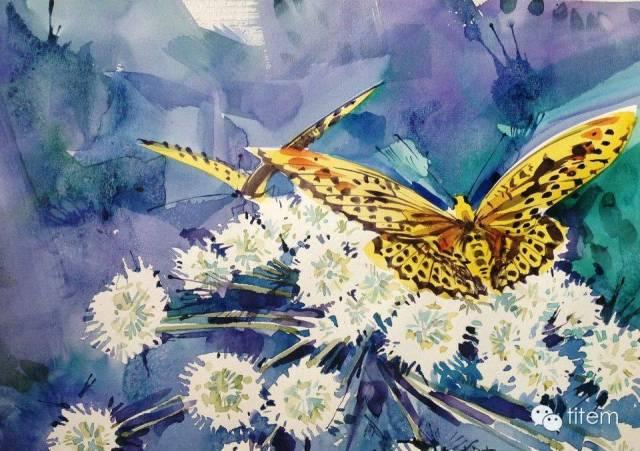 画家达. 巴图那顺水彩画作品分享 第34张