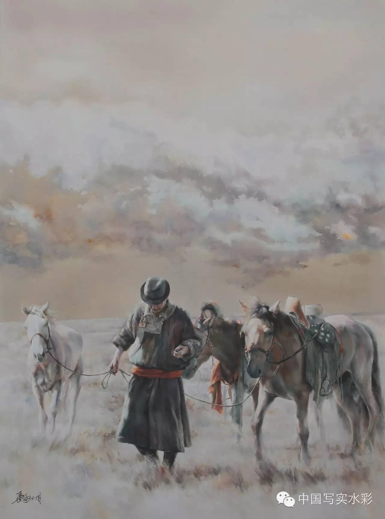 中国写实水彩第一回展——参展画家长海作品欣赏 第2张