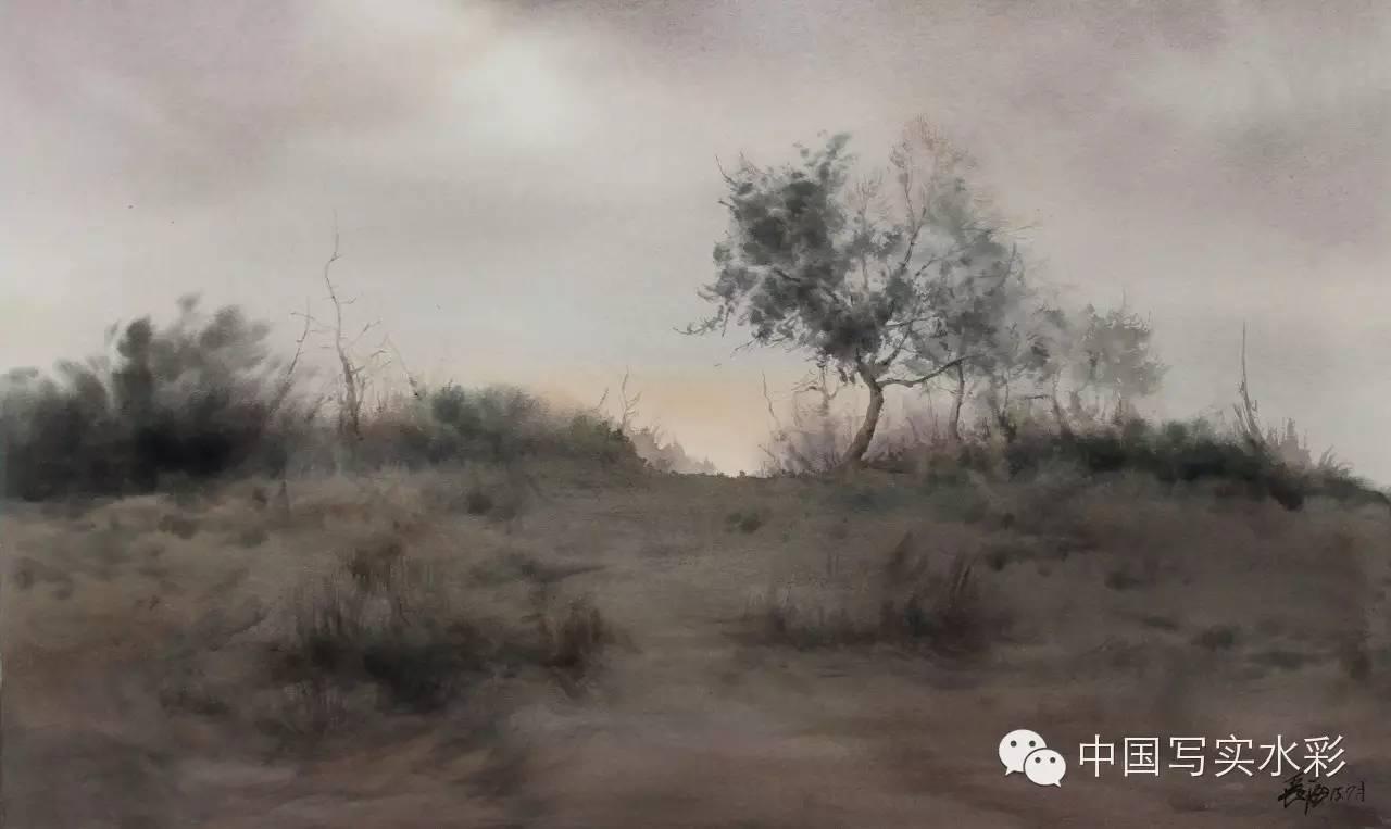 中国写实水彩第一回展——参展画家长海作品欣赏 第18张