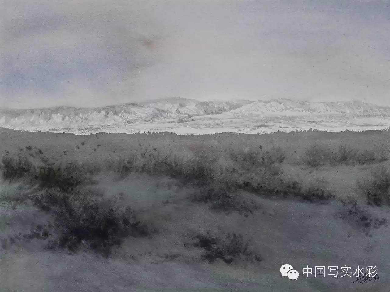 中国写实水彩第一回展——参展画家长海作品欣赏 第19张