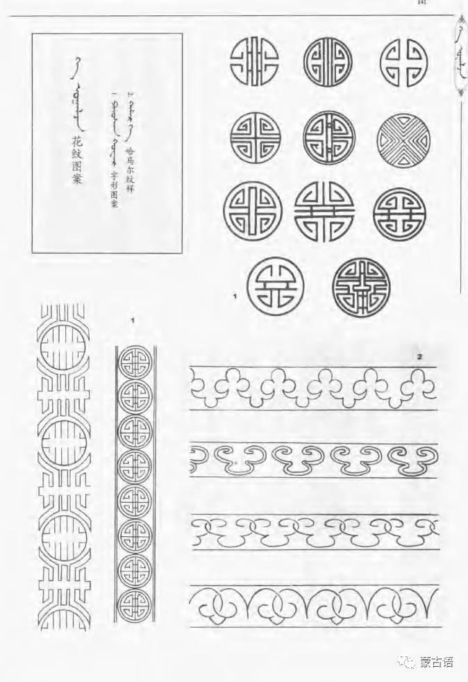 蒙古族传统文化图鉴—花纹图案与各种结子 第3张