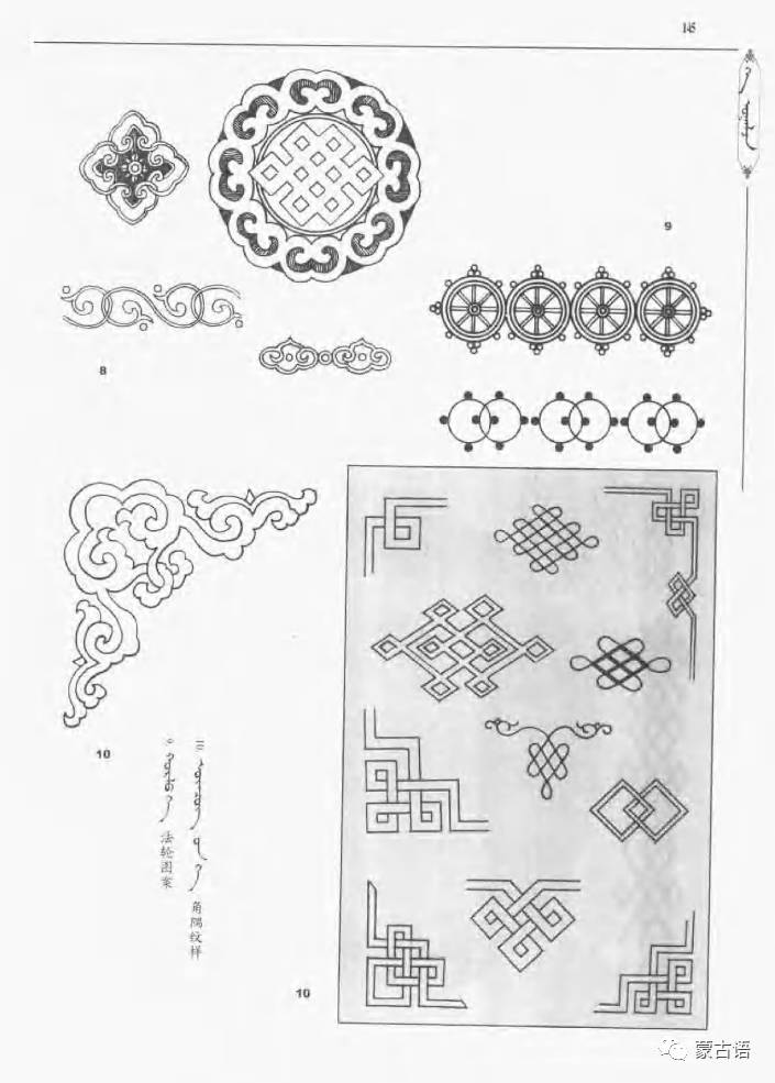 蒙古族传统文化图鉴—花纹图案与各种结子 第7张