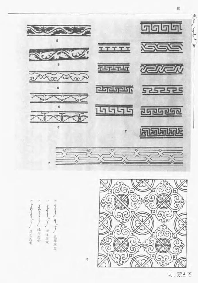 蒙古族传统文化图鉴—花纹图案与各种结子 第5张
