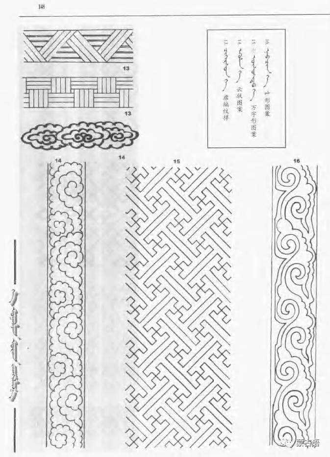 蒙古族传统文化图鉴—花纹图案与各种结子 第10张