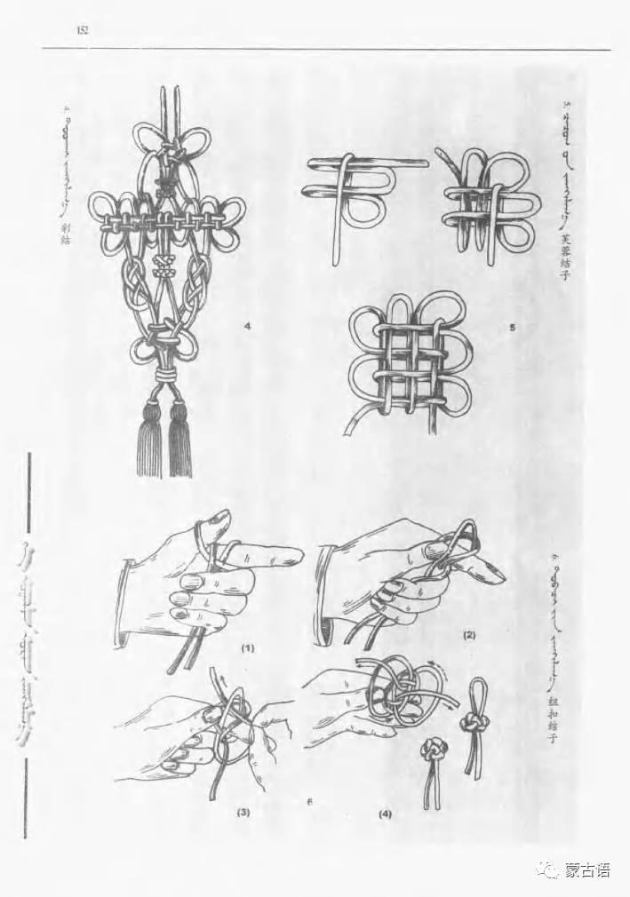 蒙古族传统文化图鉴—花纹图案与各种结子 第14张